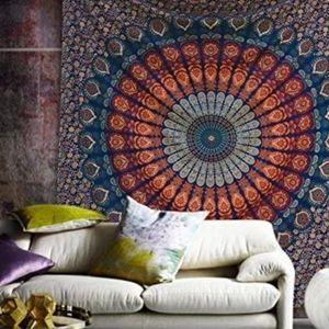 Mandala Tapestry Curtain Bedspread Throw Backdrop